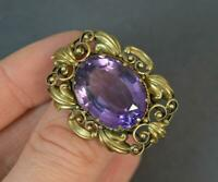 Superb Early Victorian 15ct Gold and Amethyst Statement Brooch d2048