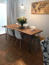 Handmade Oak Farm House Dining Table Wayney Edge Rustic Industrial Reclaimed