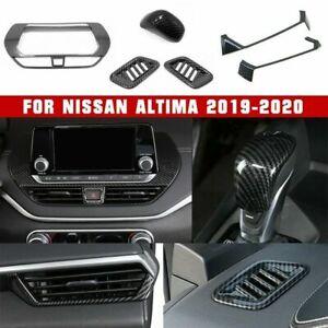 6X Fit Nissan Altima 2019-2020 ABS Carbon Fiber Interior Decoration Trim Cover