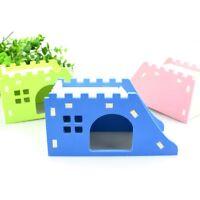 Pet Wood Castle Toy Hamster House Bed Cage Nest Hedgehog Guinea Pig Creative