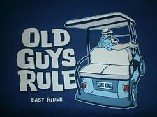 """OLD GUYS RULE """" EASY RIDER """" """" CART KING """" GOLF BAG COLOR METRO BLUE SIZE 2X"""