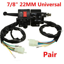 """Motorcycle 7/8"""" Handlebar Horn Turn Signal Electrical Start High/Low Beam Switch"""