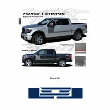 Ford F-150 2009 up Body Side Solid Stripes Graphic Kit - Blue