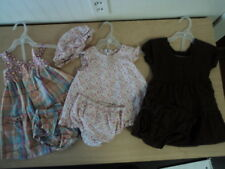 LOT OF 3 GIRLS SIZE 12 MONTHS SUMMER 2-PC DRESSES - NICE!
