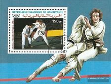 Mauritania block68 fine used / cancelled 1987 Olympics Summer ´88