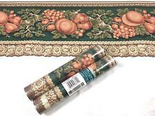 Village Wallpaper Die Cut Border 2 Rolls Architectural Green Brown Wood Mushroom