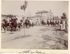 Algérie, Frendah, défilé d'un Goum Algérien  vintage citrate print, Tirag
