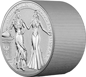 2020 10oz Silver Allegories Germania & Italia 50 Mark Coin Round Only 250 Minted