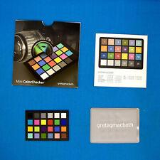 X-Rite GretagMacBeth Mini ColorChecker Classic 24 Colors Chart Card