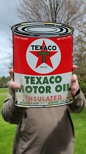 OLD VINTAGE DATED 1956 TEXACO MOTOR OIL PORCELAIN ENAMEL GAS PUMP STATION SIGN