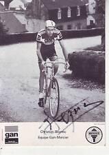CYCLISME carte cycliste CHRISTIAN SEZNEC équipe GAN MERCIER 1976 signé