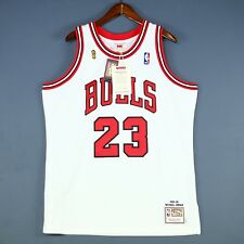 100% Authentic Michael Jordan Mitchell Ness 95 96 Finals Bulls Jersey 48 XL