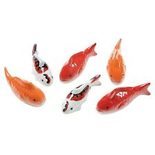 Art & Artifact Ceramic Floating Koi Fish - Set of 6 Multi-Colored Goldfish