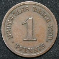 1900 G | Germany 1 Pfennig | Copper | Coins | KM Coins