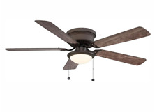 Hugger Ceiling Fan 52 in. LED Espresso Bronze Flush Mount Indoor Reversible