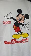 "Vintage 1980s Mickey Mouse Disney World T Shirt Size: Medium 34"" 36"" 38"""