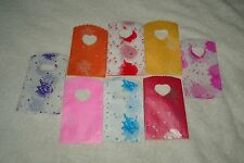 50 ROSE PATTERNED SMALL PLASTIC GIFT JEWELLERY PARTY BAGS 15x9cm B