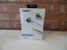 Green Bose Soundsport In-ear Headphones -  Apple Devices - New Sealed