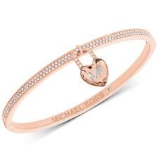 Bracelet Rose Gold Mkj7019791 3018 Nib Michael Kors Heart Lock Bangle