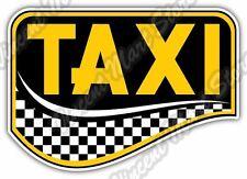"Taxi Yellow Cab Car Service Driver Gift Idea Car Bumper Vinyl Sticker Decal 5X4"""