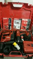HILTI SET Drill DFH 22-A,TE 4-A22 +2 x 2.6Ah +3.3Ah batteries & 110V charger