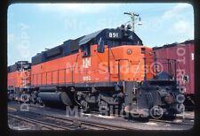 Original Slide B&LE Bessemer & Lake Erie SD38-2 891 Pittsburgh PA 1978