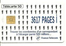 RARE / CARTE TELEPHONIQUE - 3617 PAGES i MINITEL FRANCE TELECOM / PHONECARD