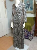 "VTG. VANITY FAIR Women""s Nightgown & Robe Set,Cheetah Print, Satin Nylon, Sz.36"