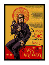 Mark Lanegan 2016 European Tour Poster