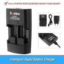 DC 12V 600mAh Intelligent RCR123/CR2 Rapid Battery Charger for 16340/17335/16340