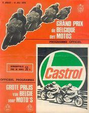 Grand Prix de Belgique Motos 6.7.75 Programm program 1975 Motorsport Rennsport