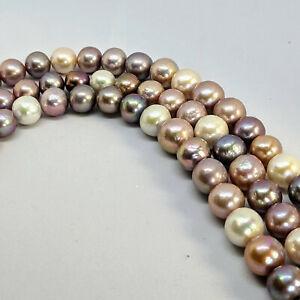 Edison pearl loose string, 10-13 mm, AAA, graduated, multi-coloured