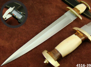 "ALISTAR 15"" CUSTOM HANDMADE DOUBLE EDGE SWISS DAGGER HUNTING KNIFE (4516-39"