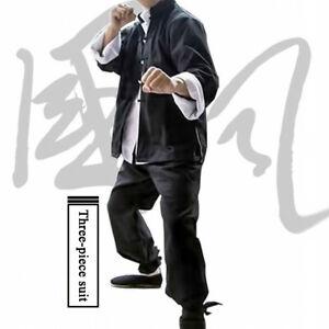 Bruce Lee Kung Fu Wing Chun Uniform Martial Arts Tai Chi Suit Tang Suit Mens Hot