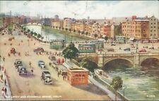 Dublin the liffey & o'connell bridge c1947 valentine