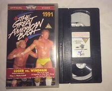 WCW Great American Bash '91 - Luger/Windham (VHS, 1991) (PAL) NWA WWF WWE NWO