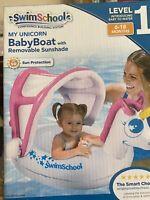 SWIM SCHOOL My Unicorn Baby Boat With Removable Sunshade,6-18 MONTHS,UPF50