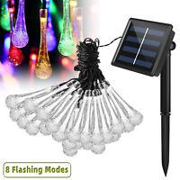 21ft 30 LED Outdoor Solar Power String Light Garden Patio Landscape Lamp Party