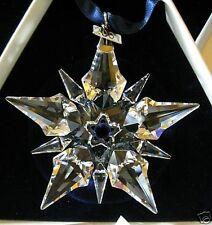 2001 Swarovski~Snowflake STAR Annual Christmas ORNAMENT ~ with Box & certificate