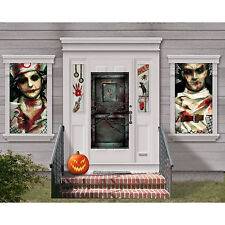 Haunted Halloween Asylum Horror Party Mega Scene Setter Decorating Kit