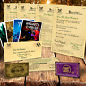 Harry Potter PERSONALISED Gift Set Hogwarts Acceptance Letter & Express Ticket