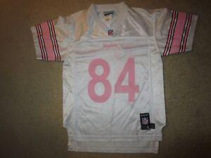 Antonio Brown #84 Pittsburgh Steelers Pink Reebok Jersey Girls L 14