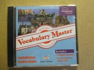 Transparent Language Vocabulary Master CD-ROM