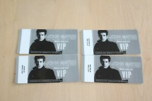 Special Offer /   John Mayer -  4x Laminated Backstage Pass  / Collection Lot