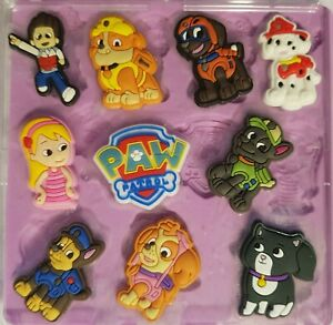 PAW PATROL SET SILICONE MOULD FOR CAKE TOPPERS, CHOCOLATE, CLAY ETC