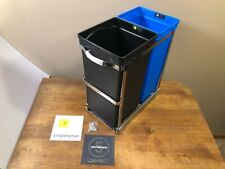 NEW Simplehuman 9.3 Gallon Dual Compartment Pull-Out Recycling Bin and Trash Can