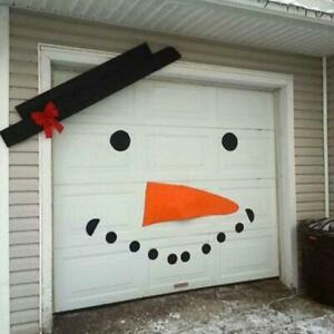 Diy Christmas Snowman Decorations Outdoor Garage Home Holiday Non Woven Material