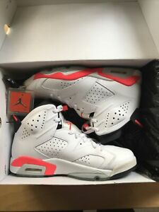 Nike Air Jordan Retro 6 Hare SIZE 10 White/Infrared-Black