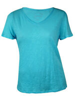 INC International Concepts Women's Solid V-Neck Tee (0X, Grey Knight)