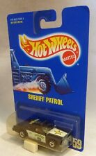 HotWheels 59 Sheriff Patrol Car Black Wall Wheels Blue Card